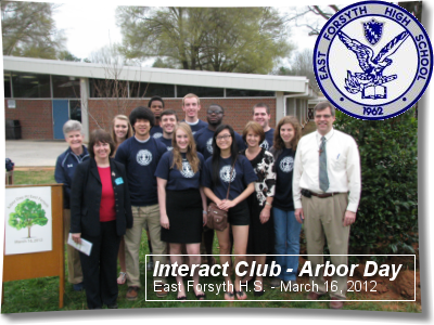 Interact Club of East Forsyth H.S. - Arbor Day 2012