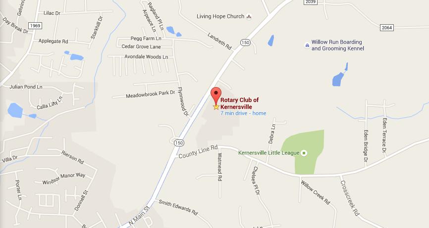 Map Kernersville Rotary